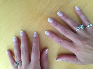 Min negle, som nu er helt klar til brylluppet